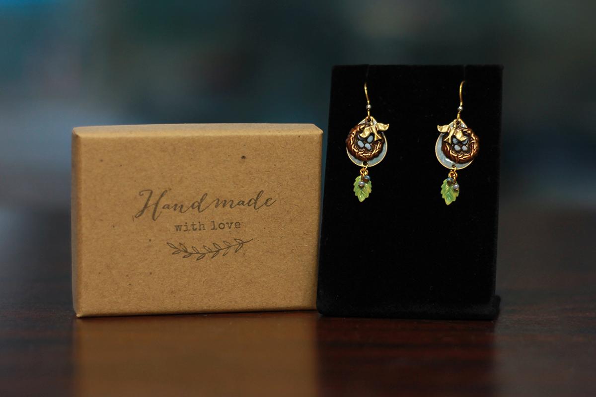 Silver Forest Earrings